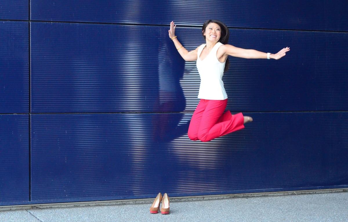 Kalei Gaines jumping